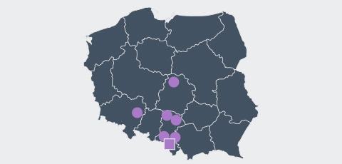 Map of Poland - Aktrion Automotive